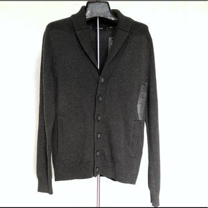 New Claiborne men's charcoal cardigan sweater